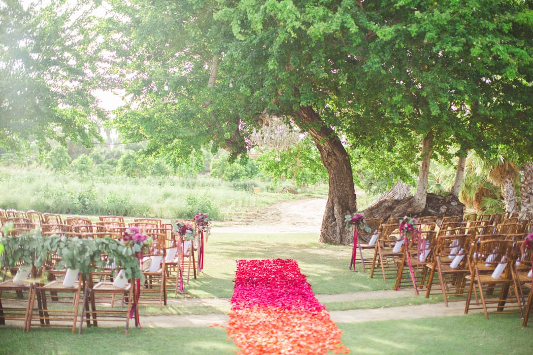 Photo of the flower aisle and beautiful backdrop for Sarah and Justice's Cabo wedding. - Sarah and Justice wedding pic2