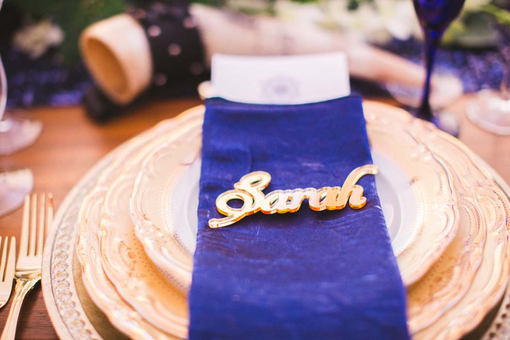 Picture of Sarah's matching napkin and dining sets for their Cabo wedding. - Sarah and Justice wedding pic12