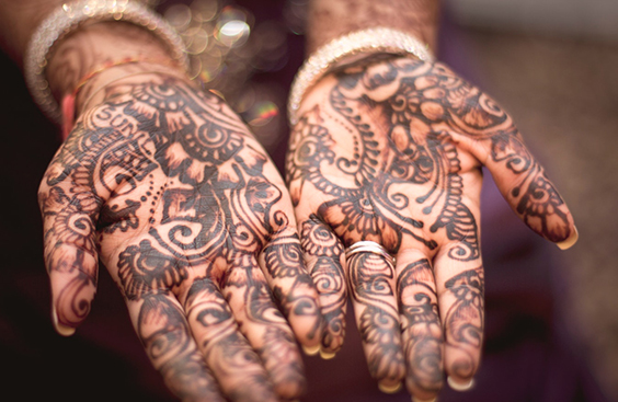 Henna Tattoo at a Wedding