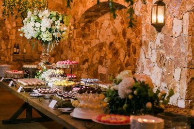 destination wedding dessert table